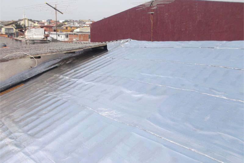 Rolo de manta asfáltica aluminizada