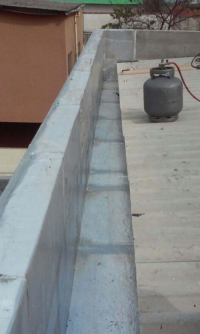 Serviço de impermeabilização de calhas